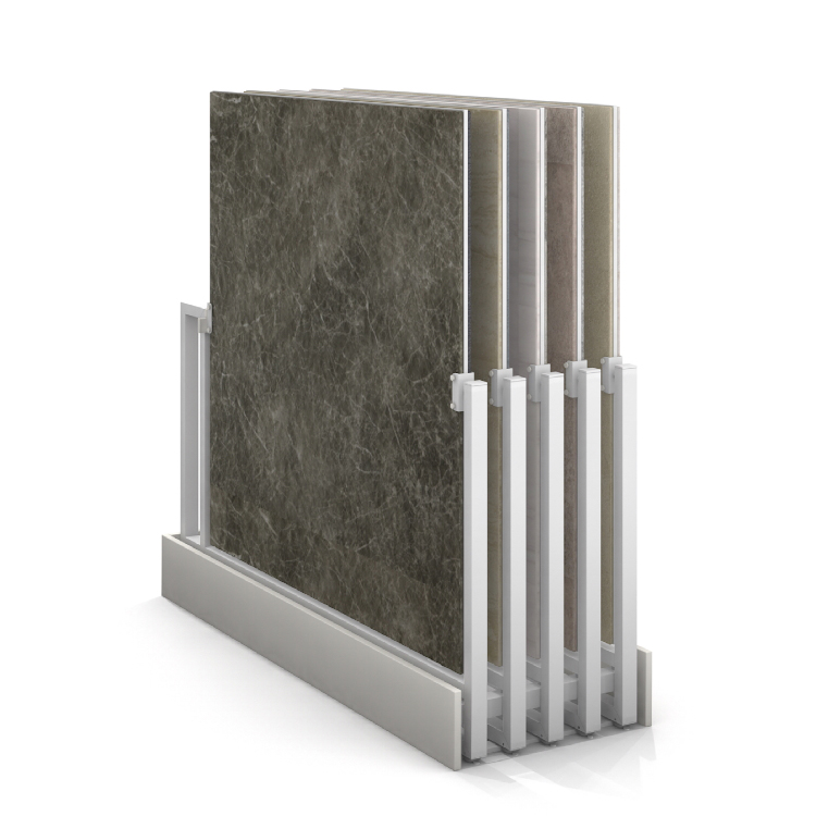 Push-pull Ceramic Tile Display Stand
