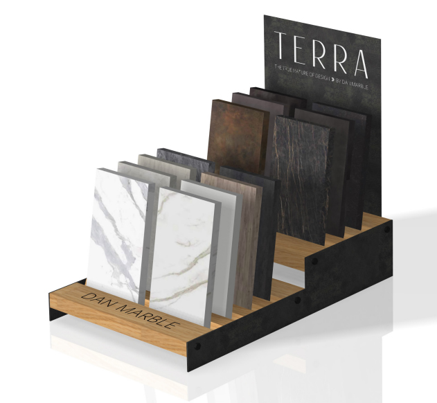 Wooden Floor Tile Simple Display Stand