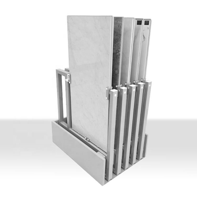 Tile Wood Floor Push-pull Rotating Display Stand