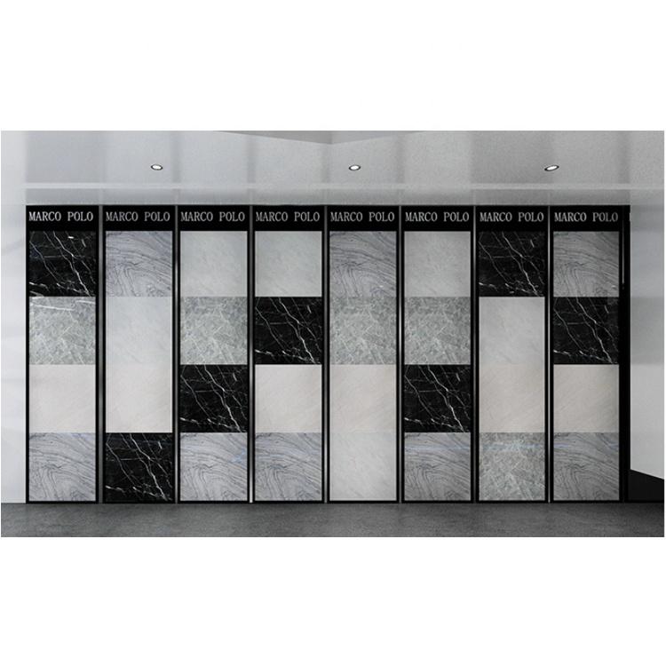 Sliding ceramic tile slab display stand