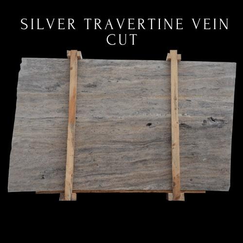 Silver Travertine Vein Cut - Light Travertine