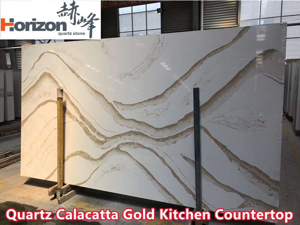 Quartz Calacatta Gold Countertop-Horizon Group