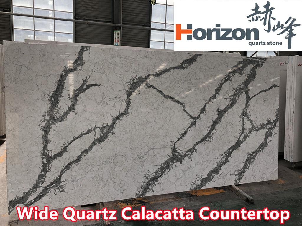 quartz calacatta Wide Kitchen Countertop