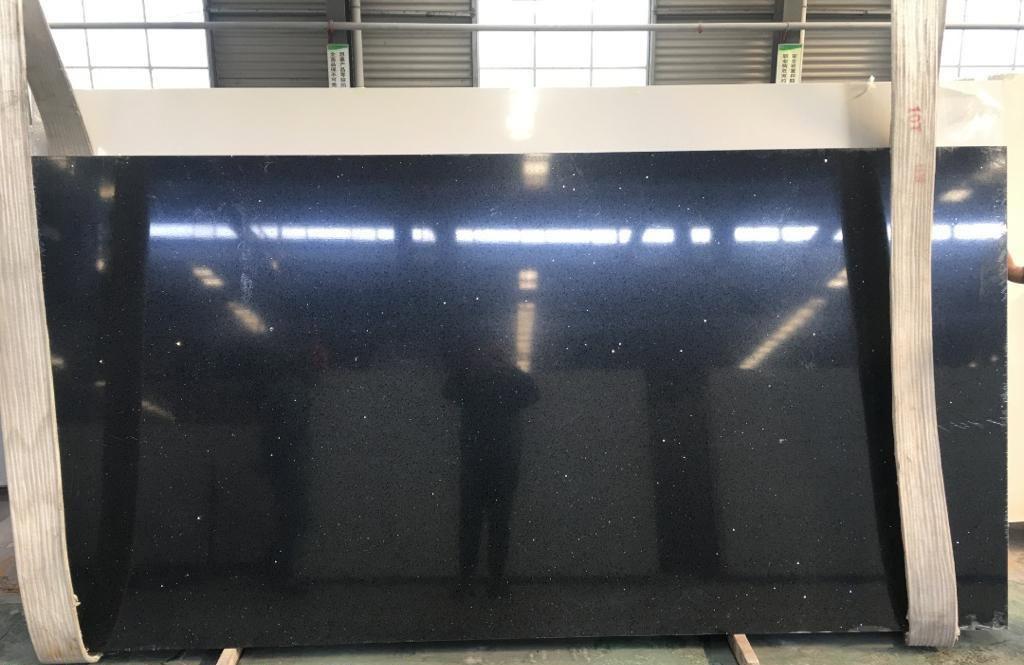 Black Sparkle quartz surface 20mm thickness