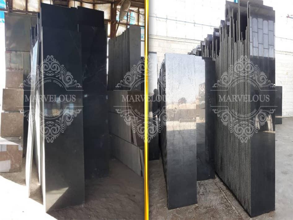 Natanz Black Granite Tile