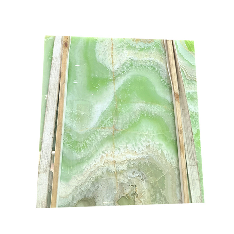 Top quality Chinese green onyx marble slab background