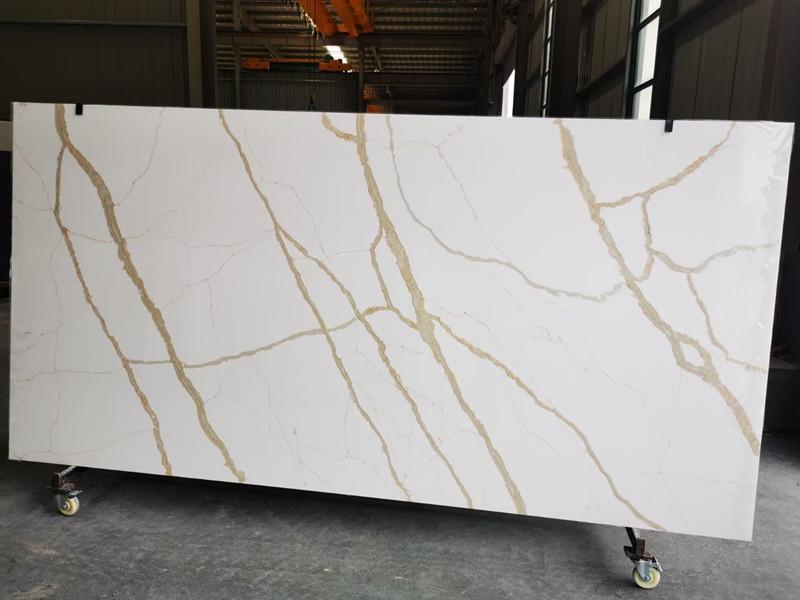 Calacatta Gold Quartz Slab KG01