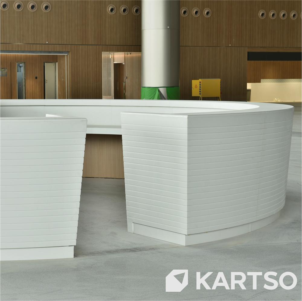 Kartso Factory Solid Surface Quartz Stone Kitchen Artificial Faux Stone Panel