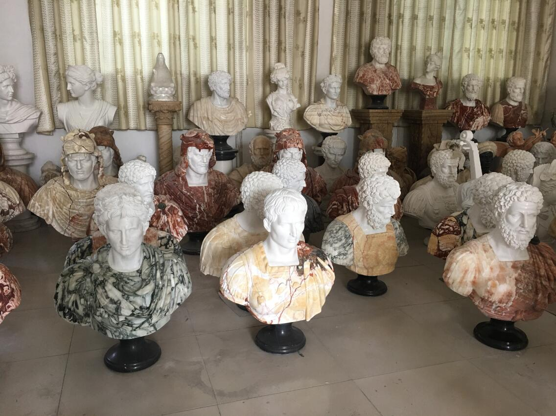 Marble bust sculpture in stock