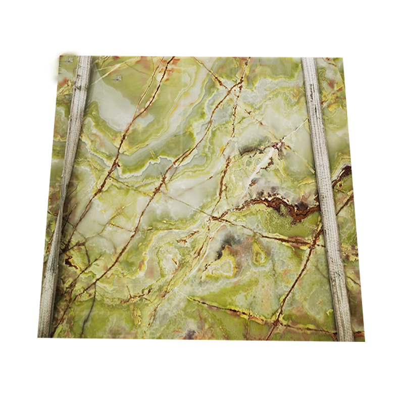 decoration natural light green onyx marble slab for wall