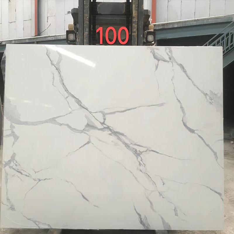 Artificial marble calacatta white