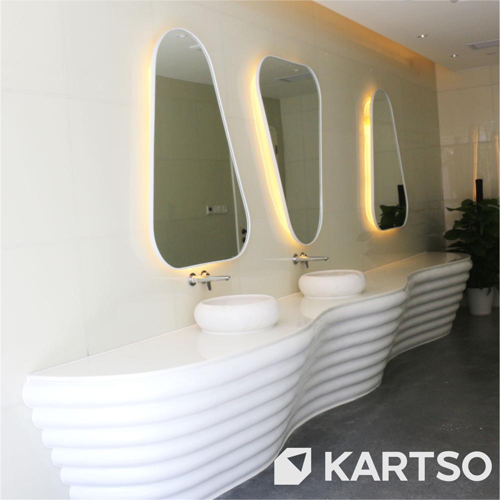 Kartso Polishing Solid Surface Quartz Nano Crystallized Corian Countertops