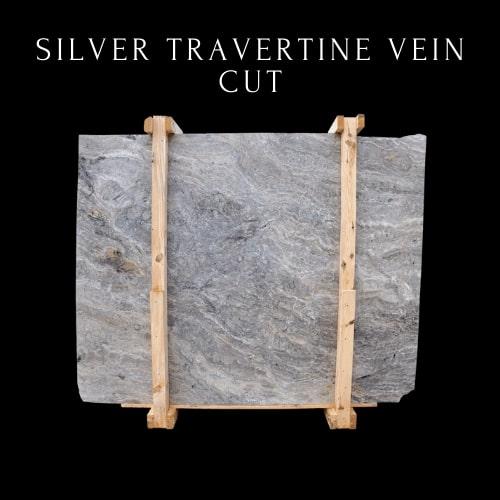 Silver Travertine Vein Cut -  Grey Travertine