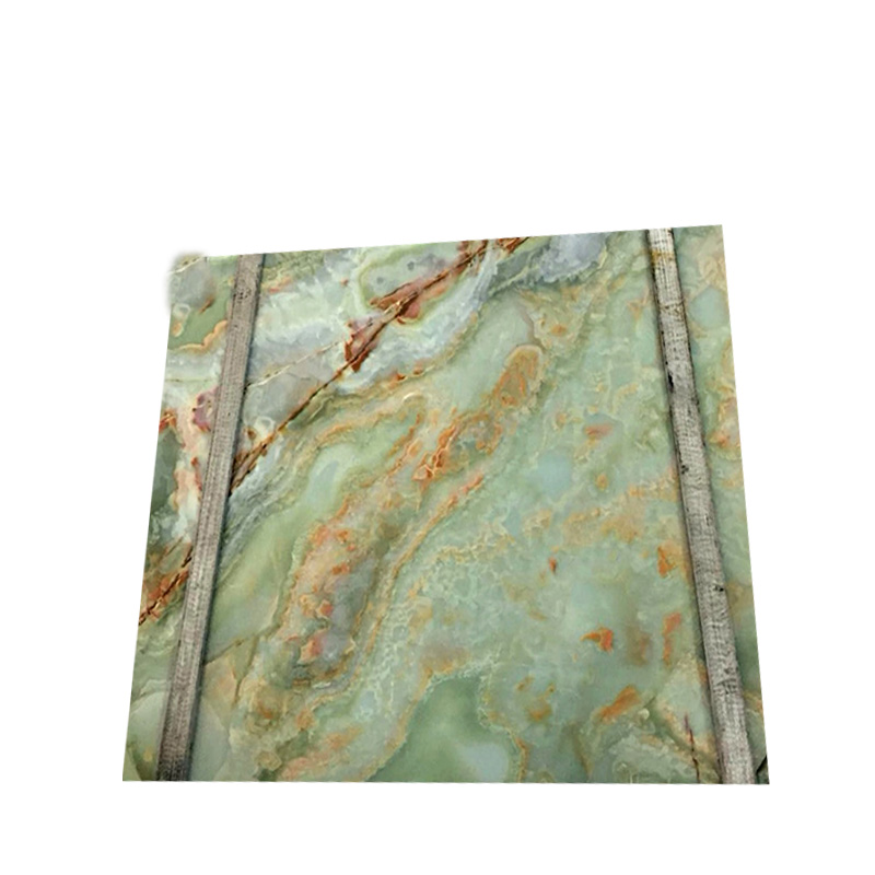 Manufacture Chinese light green onyx marble slab