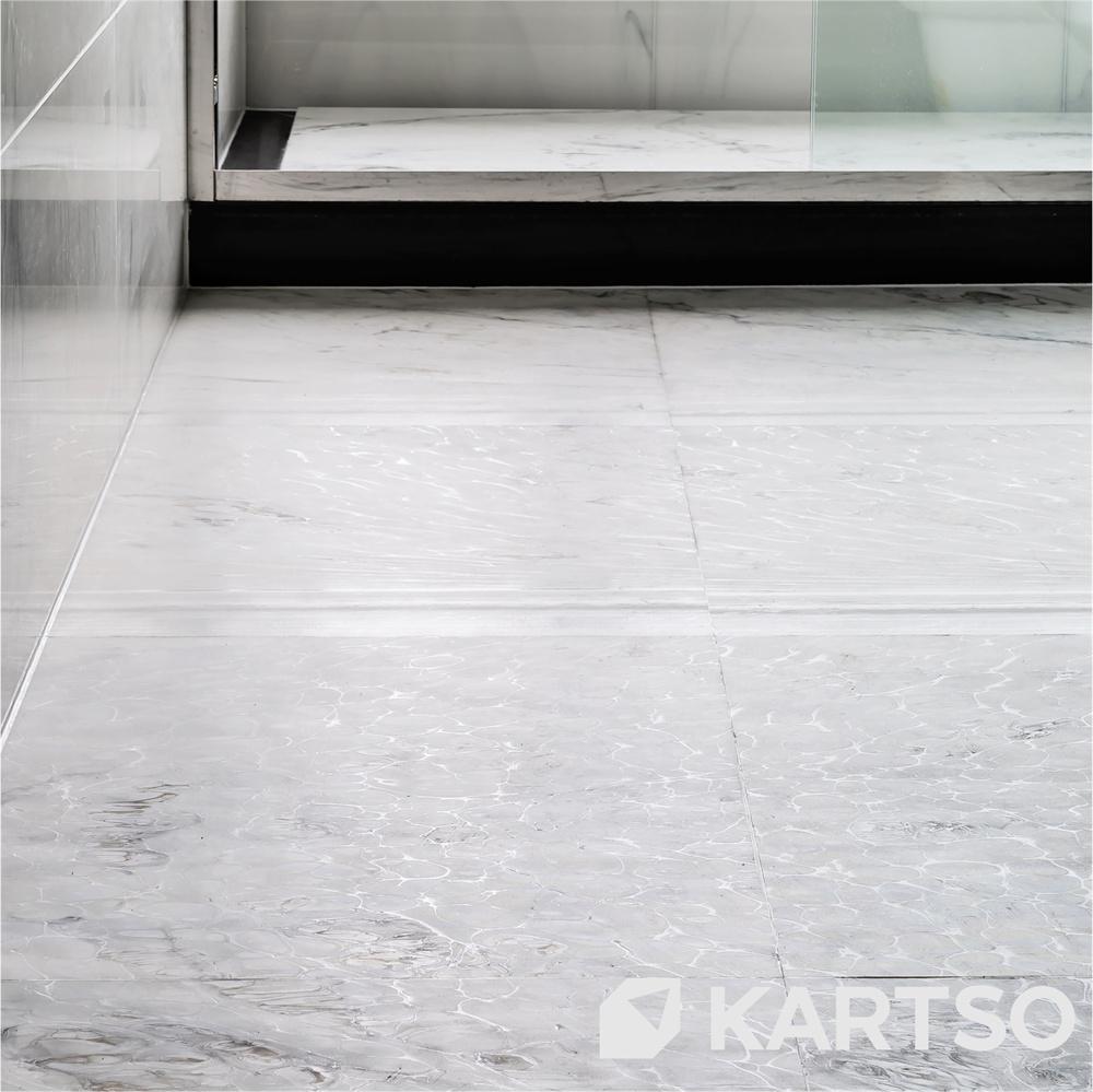 Kartso Professional Manufactory Golden Carrara Color Artificial Nano Glass Flooring Tiles