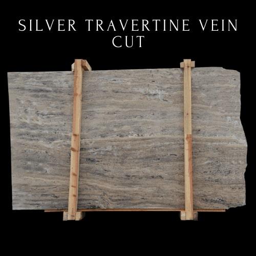 Silver Travertine Vein Cut - Light Crema Silver Travertine