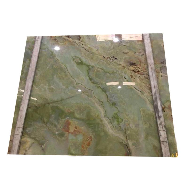 Beautiful green natural onyx stone slab