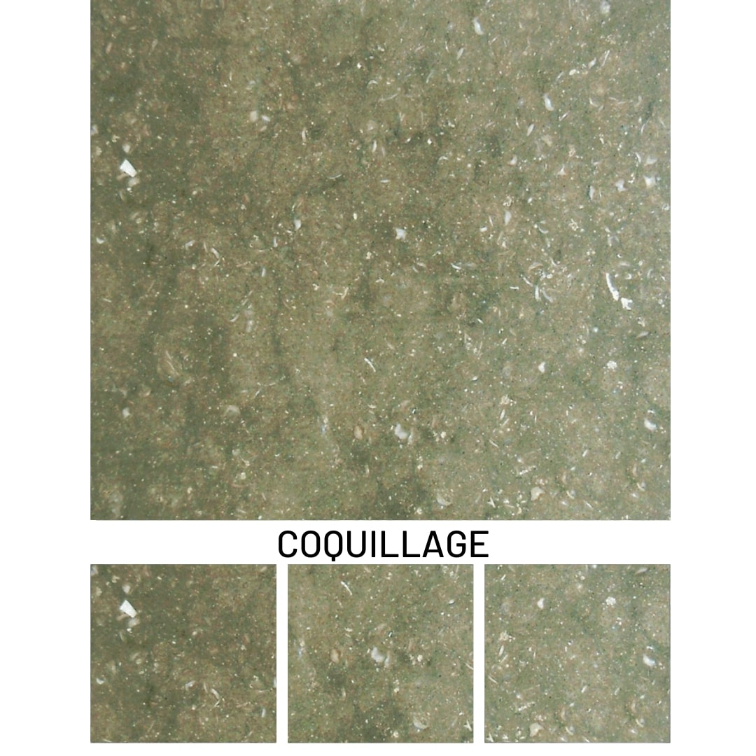 Rustic Green Marble-Coquillage