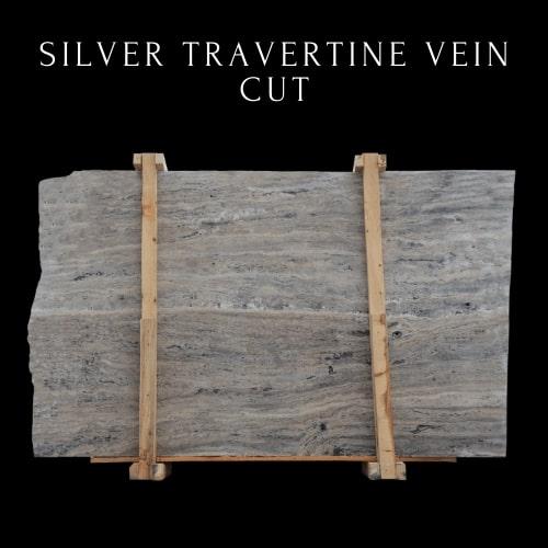 Silver Travertine Vein Cut - Mixed Light Silver Travertine