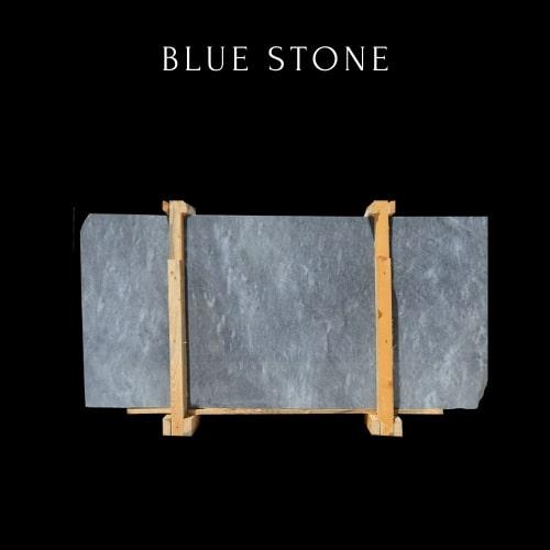Lastra di marmo blu ondulato -Dalle de marbre bleu ondul��