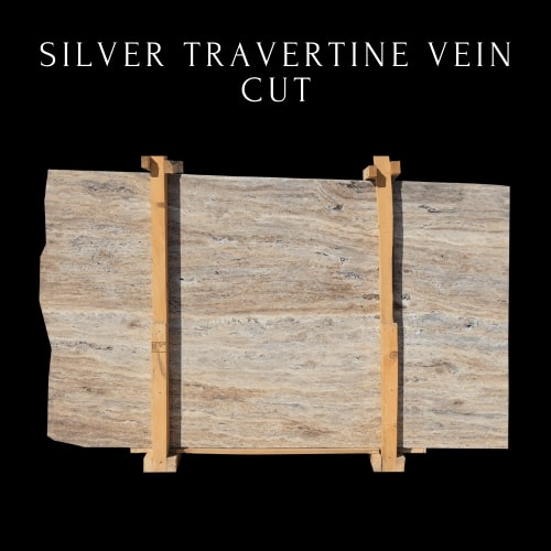 Silver Travertine Vein Cut - Multicolor Silver Travertine