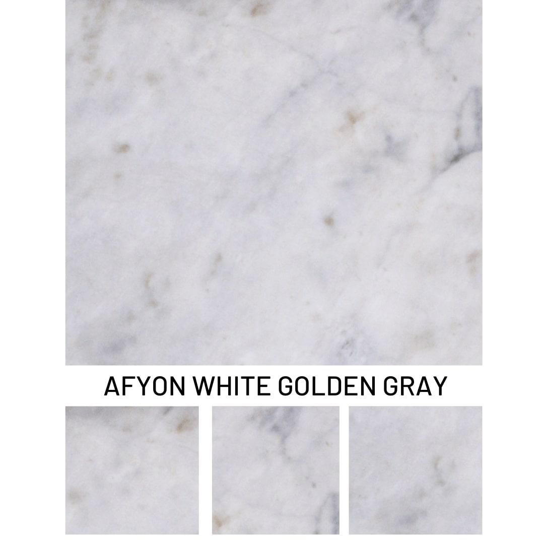 White Golden Grey Marble