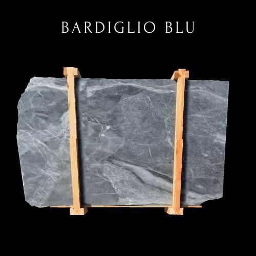 Dunkelblaue Marmorplatte -Dark Blue Marble Slab - Bardiglio Marble Slab
