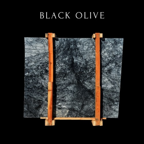 Schwarz wei? bew?lkte Marmorplatte -Black White Cloudy Marble Slab