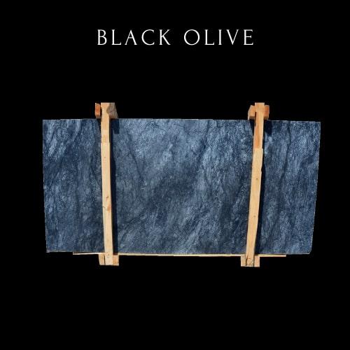 Dalle de Marbre Noir Blanc Nuageux-Black White Cloudy Marble Slab
