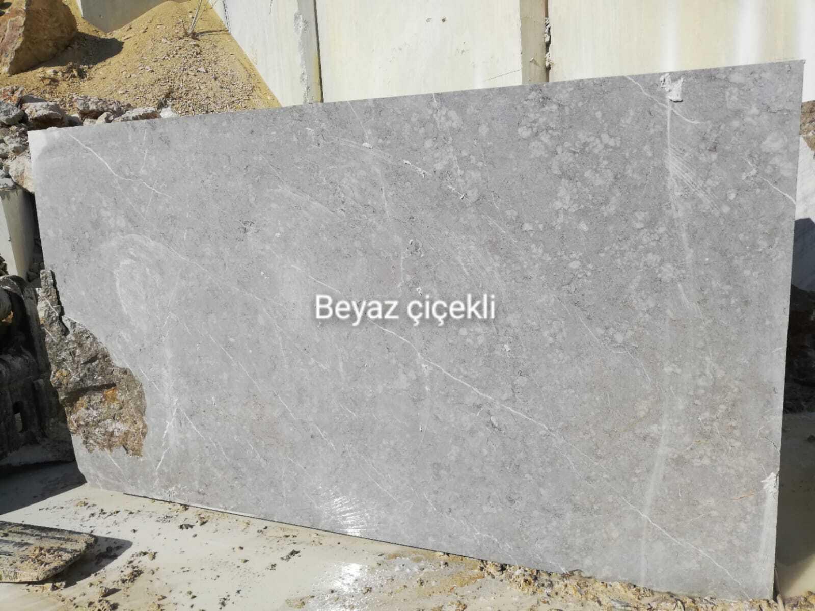 Turkey White Flowers Marble blocks