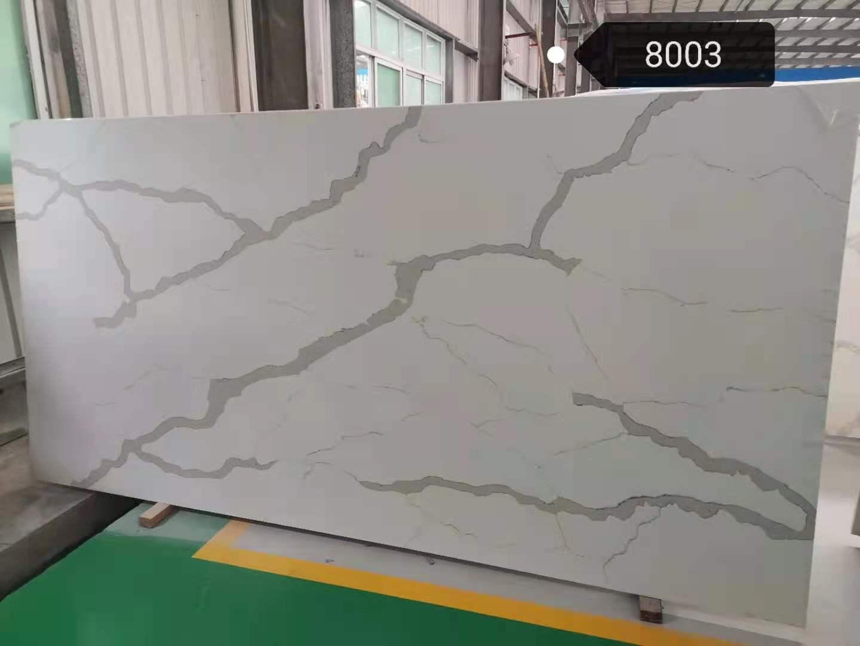 Calacatta White Quartz Slab K8003