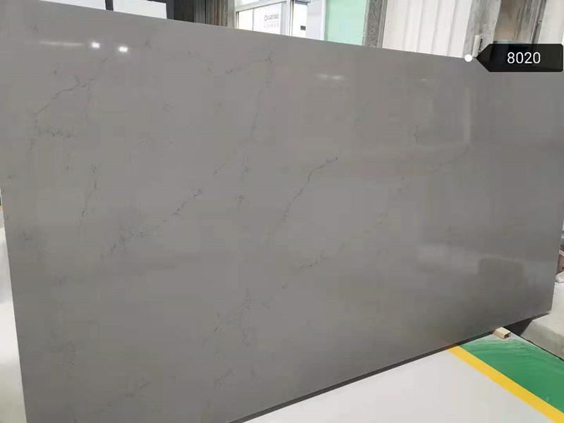 Light Grey Quartz Slab 8020Kitchen Quartz Stone