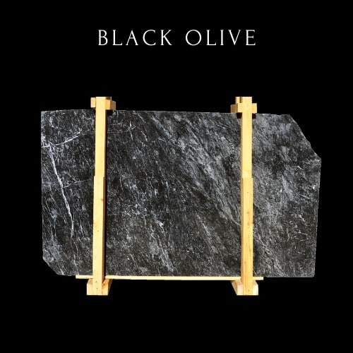 Black Wavy Marble Slab - Black Marble Slab