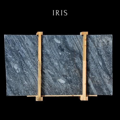 Black Marble Slab - Cloudy Blue Marble-Schwarze Marmorplatte - Wolkiger schwarzer Marmor