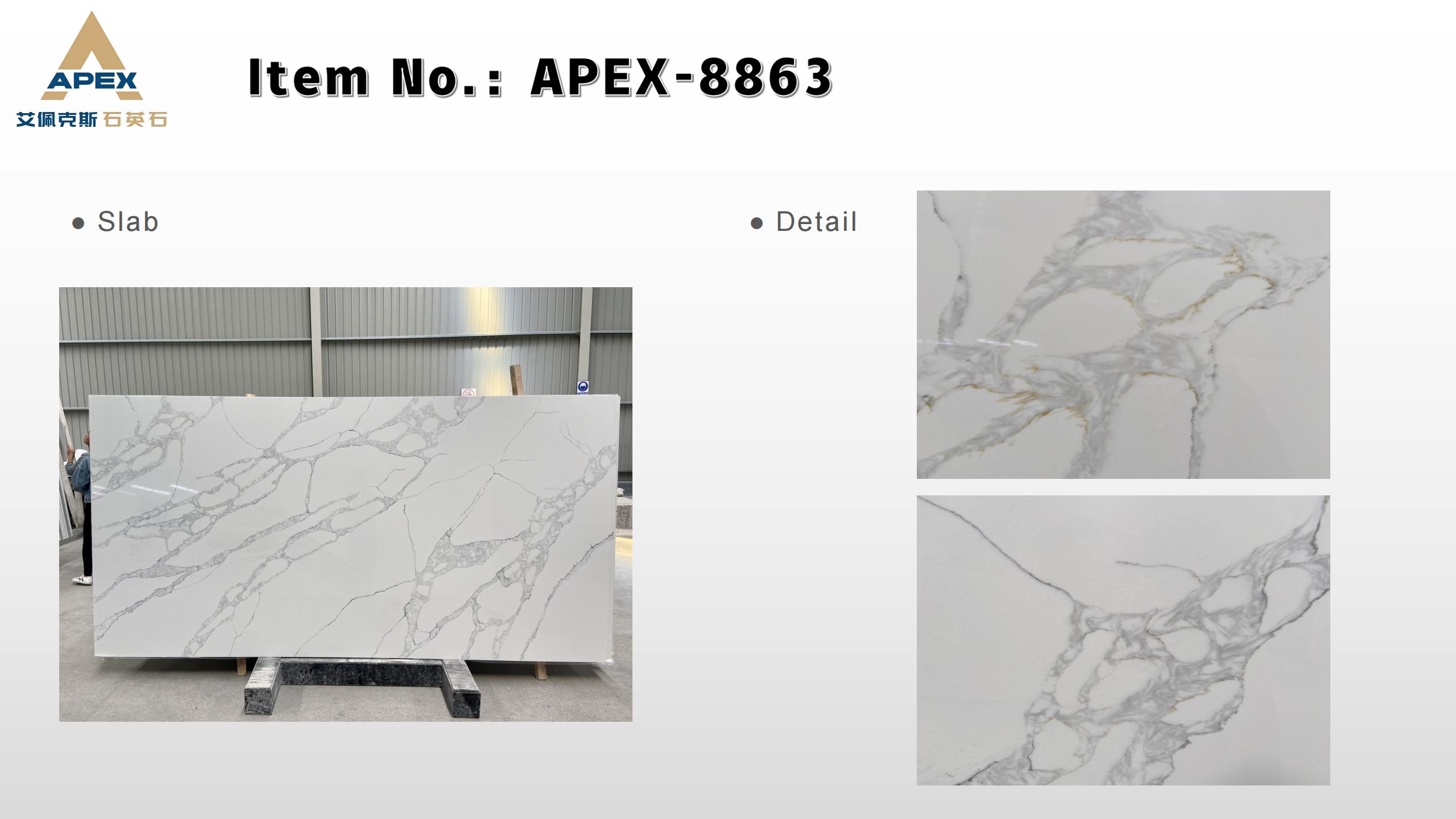 APEX Quartz slab-Calacatta