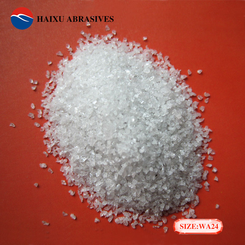 white corundum Grain