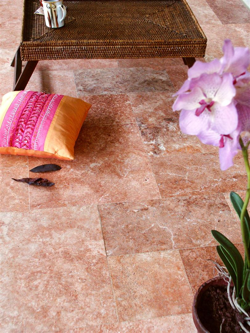 Red Travertine Tiles