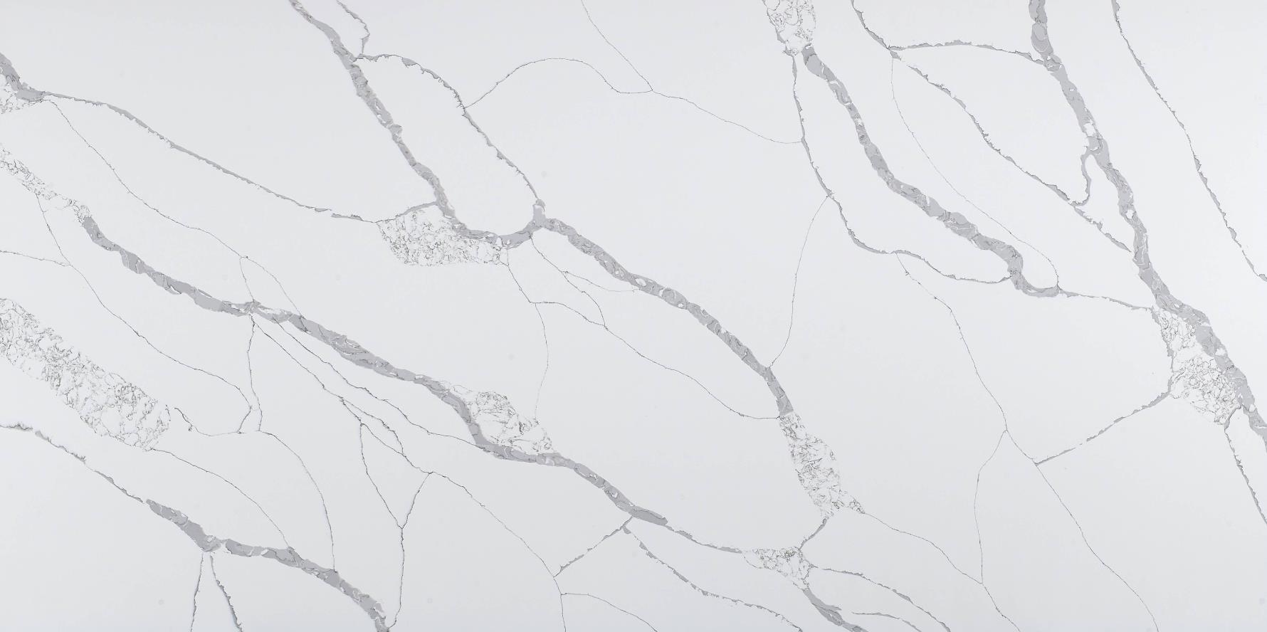 Wholesale White Polished Quartz Slabs K9916
