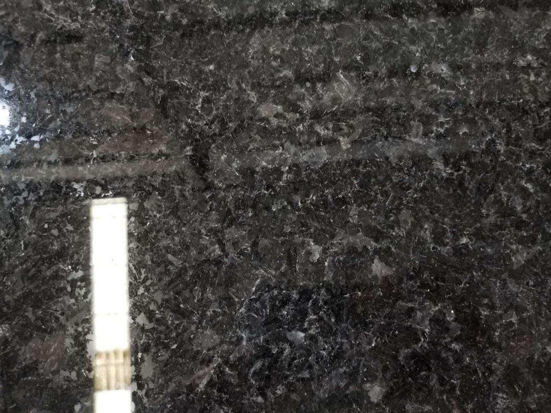 Angola Black granite slabs .cut to sizes