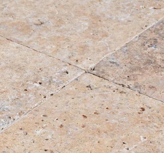 Antique Pewter - Silver Travertine Tiles