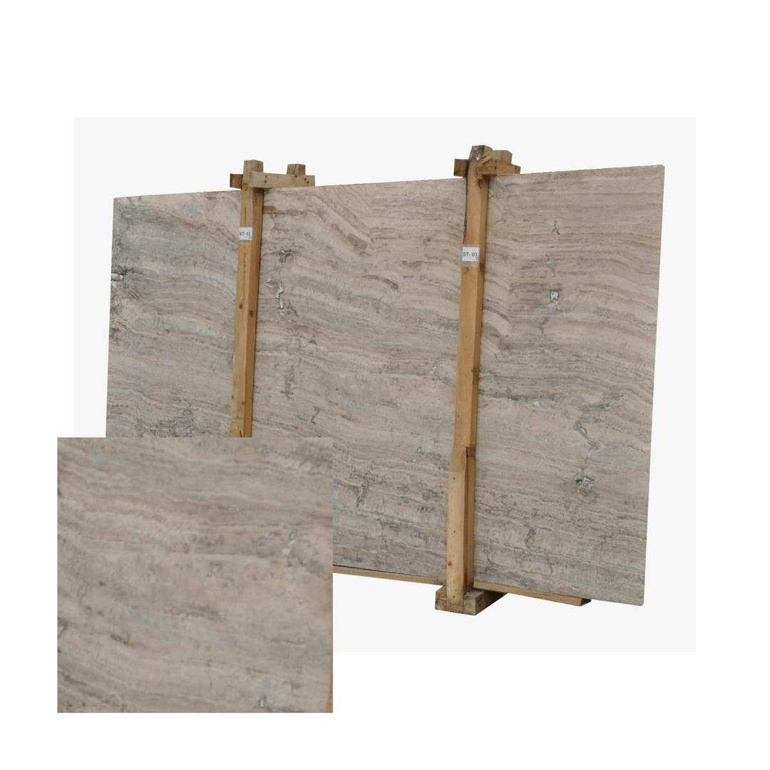 Silver Travertine-Titanium Travertine-Grey Travertine