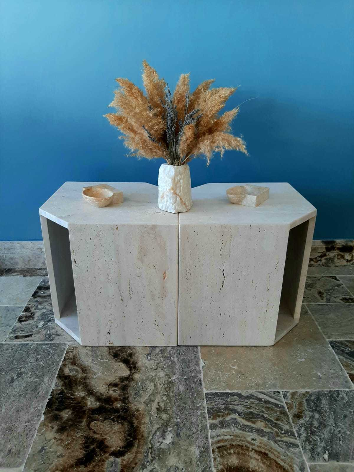 Classicc Light Travertine Coffee Table