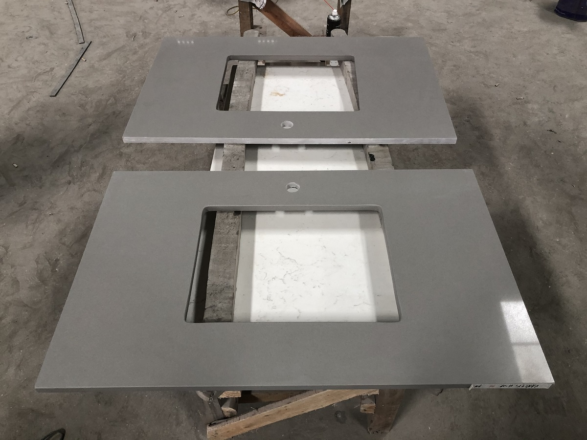 Artificial marble vanity tops