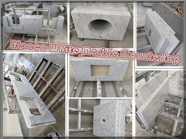 Bianco White marble countertop