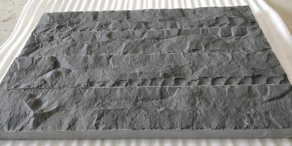 Indian Black Basalt Flat Hand Chiseled