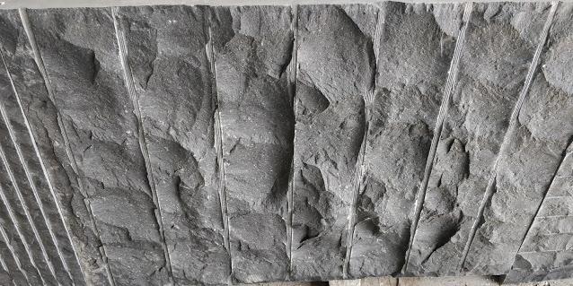 Indian Black Basalt - Hand Chiseled - Broad Lines