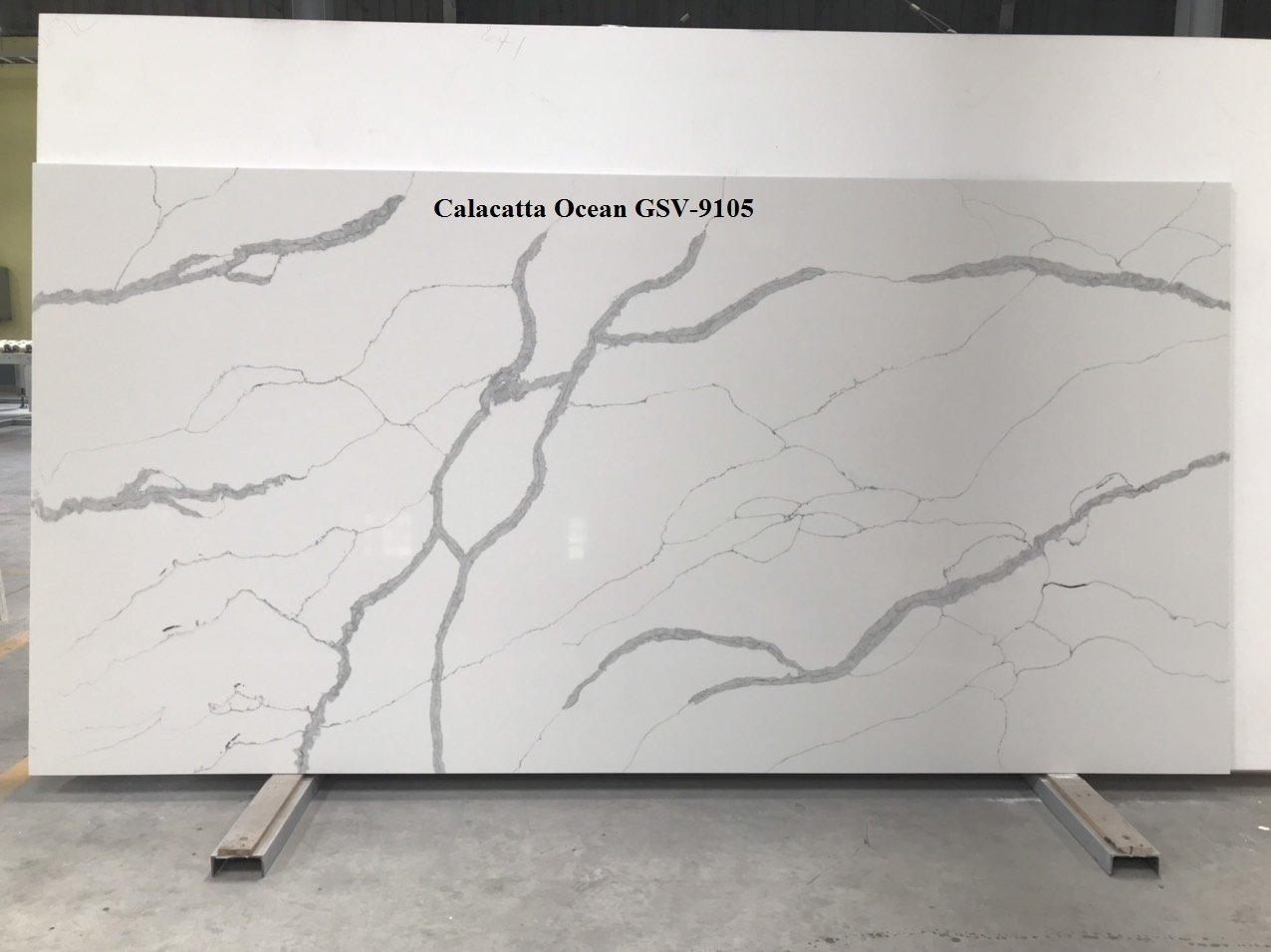 Quartz stone engineered stone calacatta ocean