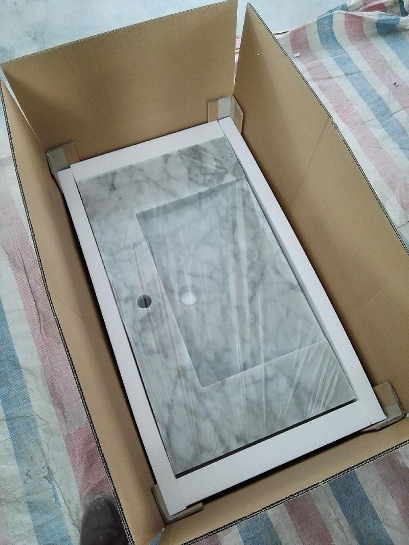 Carrara white sink