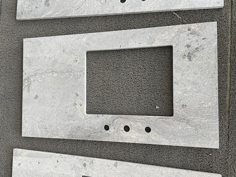Grey granite vanity top