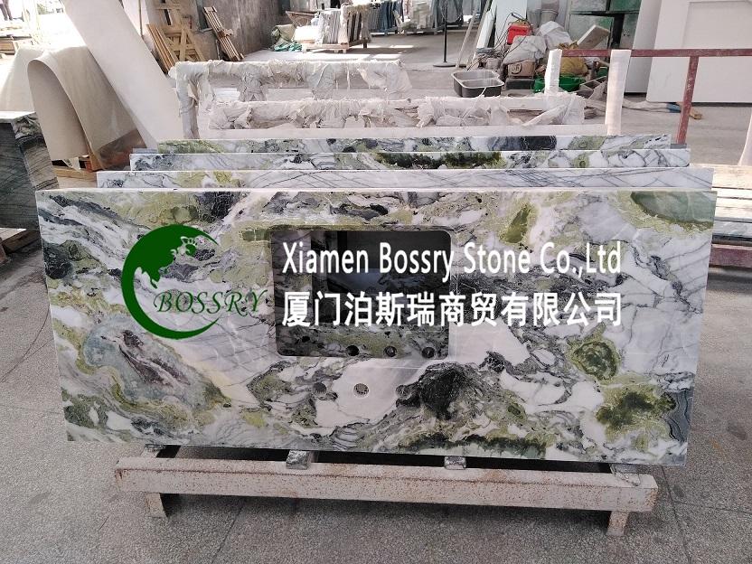 Green Granite Countertop Vanity Top
